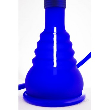 Матовый колба  на клике синий