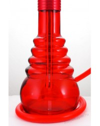 Колба кальянная на клике красный глянец