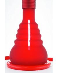 Матовый колба  на клике красный